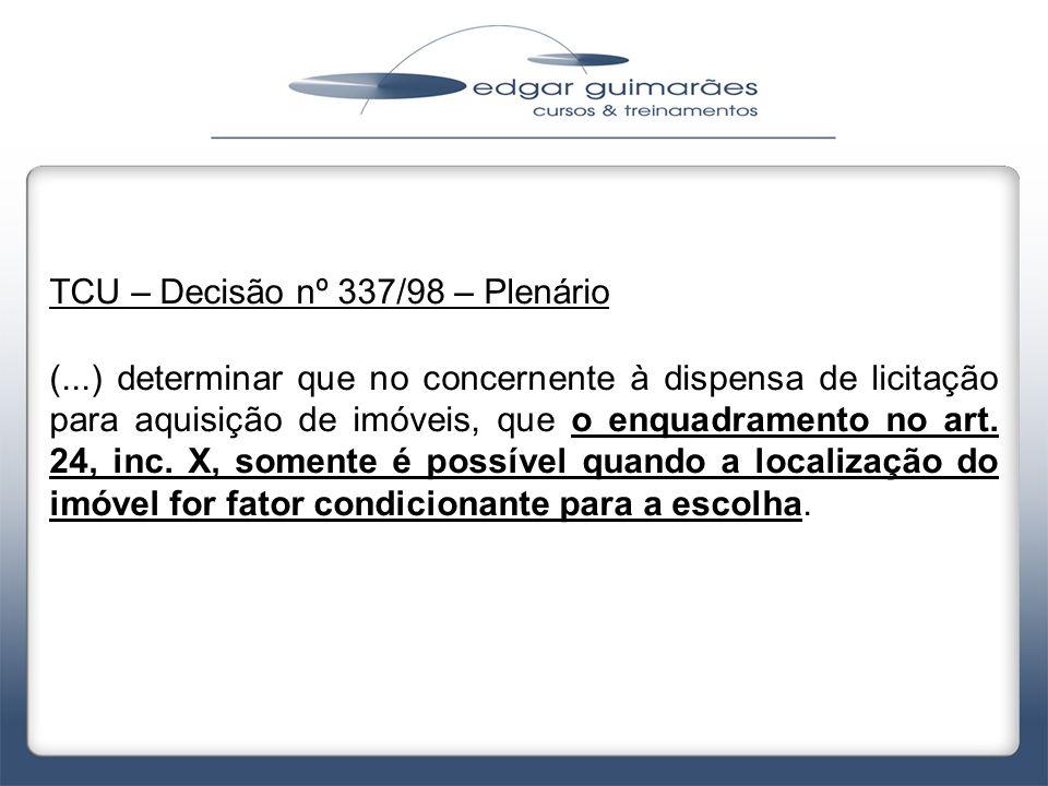 TCU – Decisão nº 337/98 – Plenário