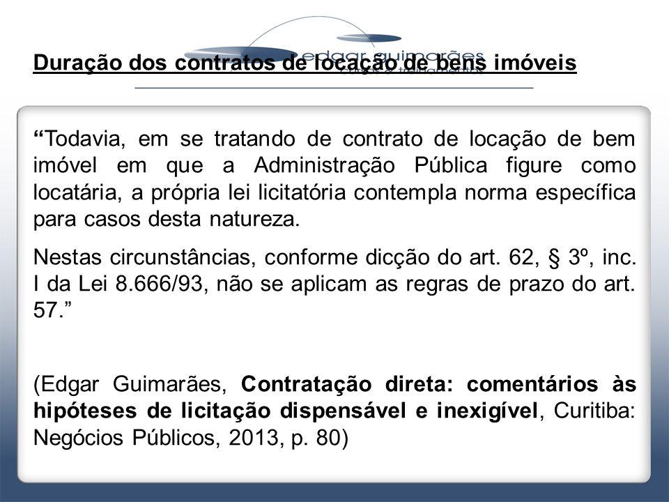 Duração dos contratos de locação de bens imóveis