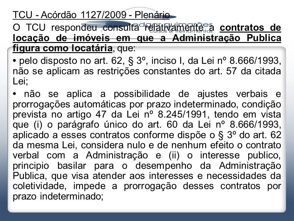 TCU - Acórdão 1127/2009 - Plenário