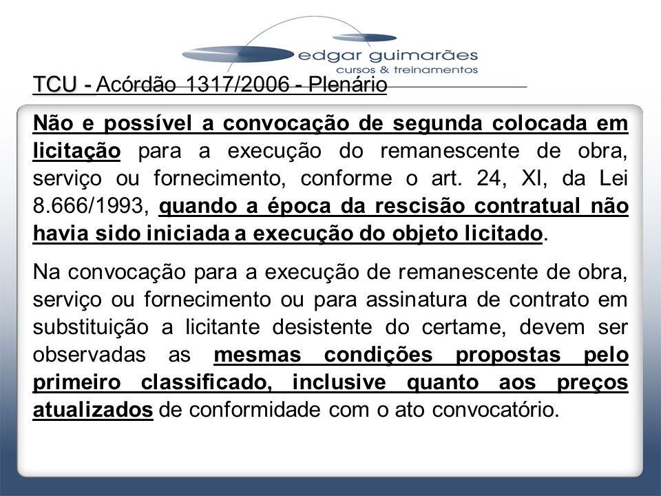 TCU - Acórdão 1317/2006 - Plenário
