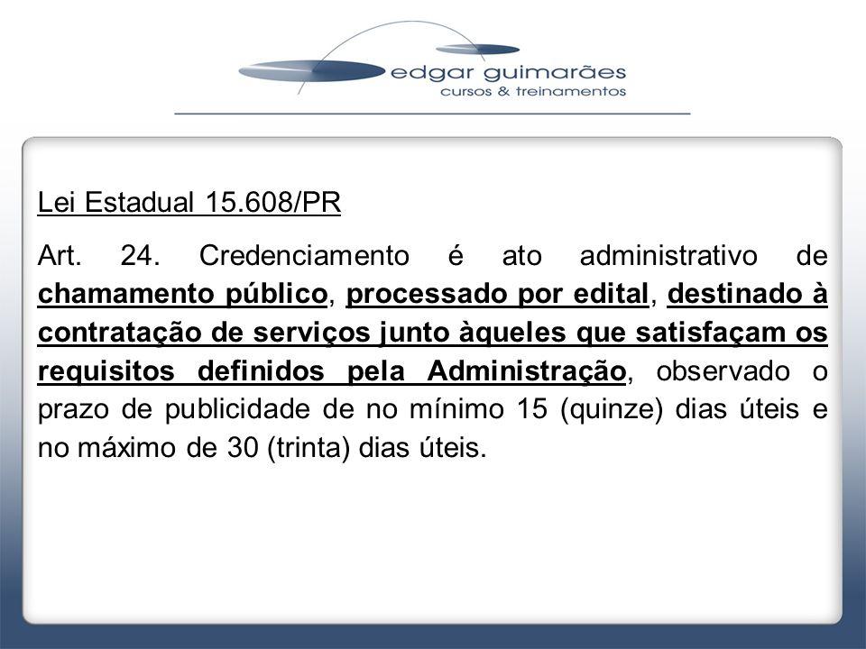 Lei Estadual 15.608/PR