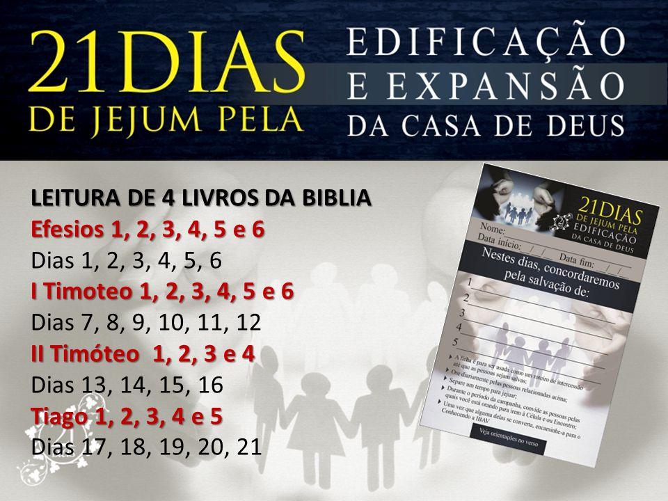 LEITURA DE 4 LIVROS DA BIBLIA