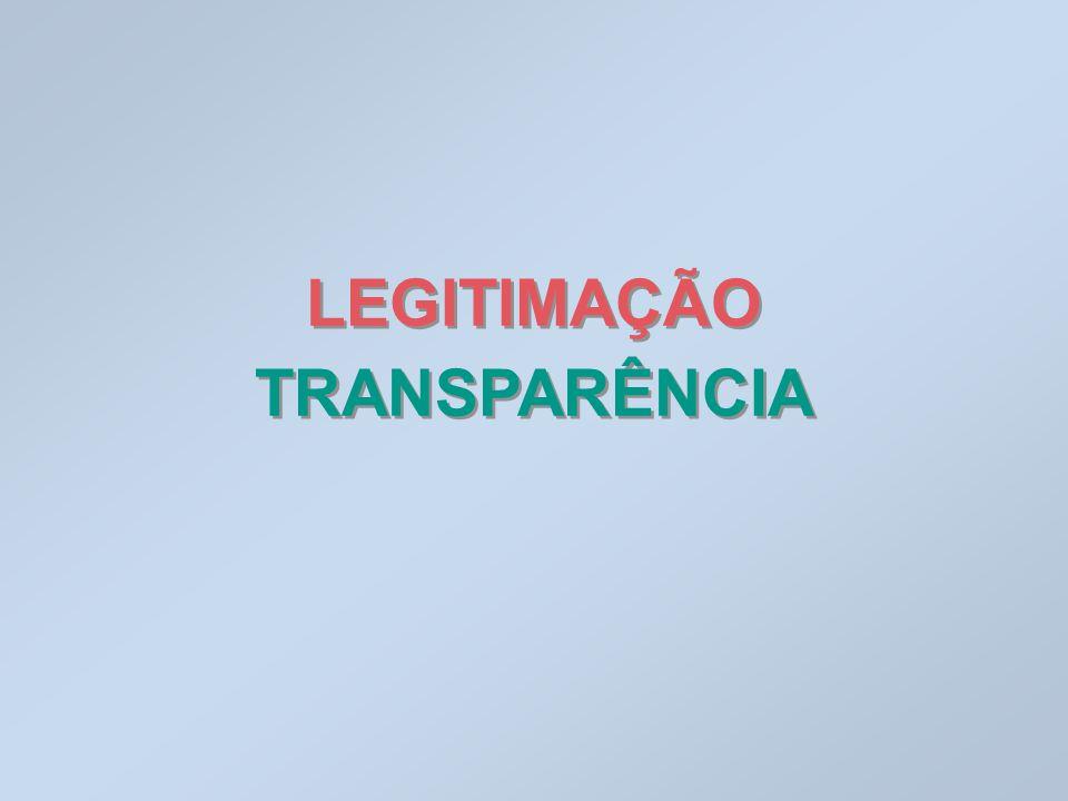 LEGITIMAÇÃO TRANSPARÊNCIA