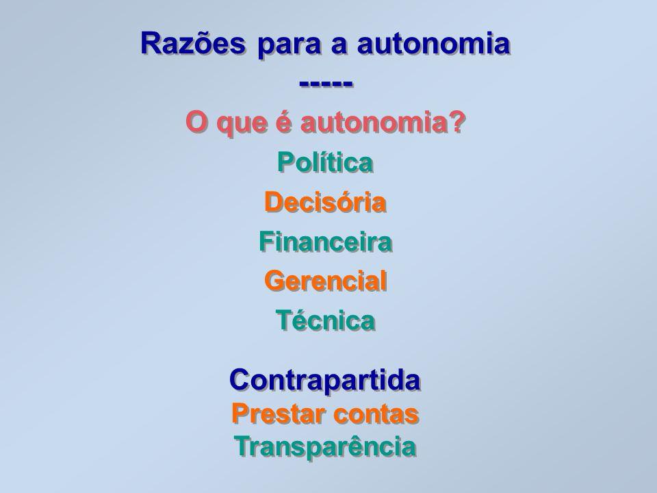 Razões para a autonomia