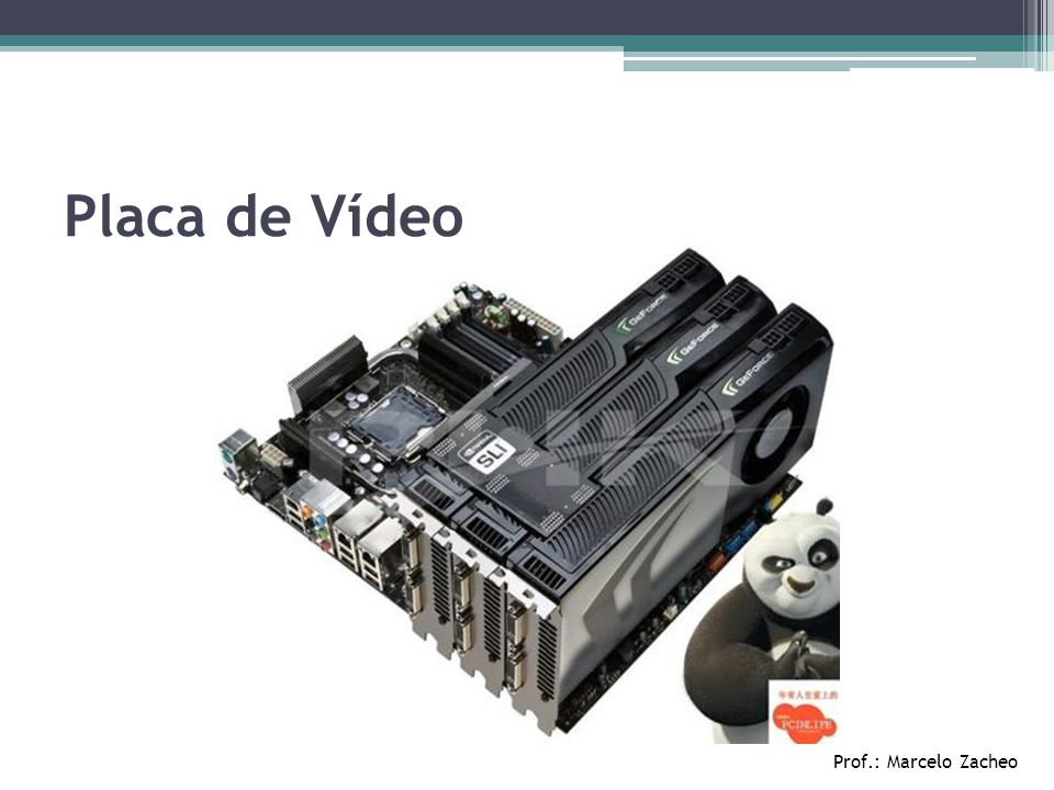 Placa de Vídeo Prof.: Marcelo Zacheo