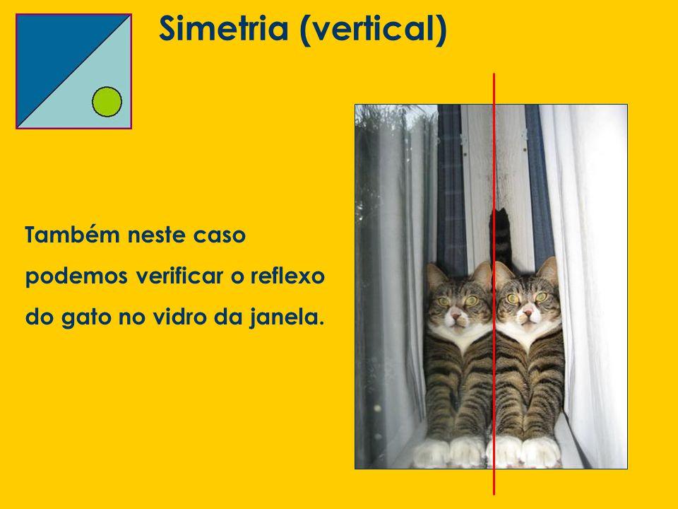 Simetria (vertical) Também neste caso podemos verificar o reflexo