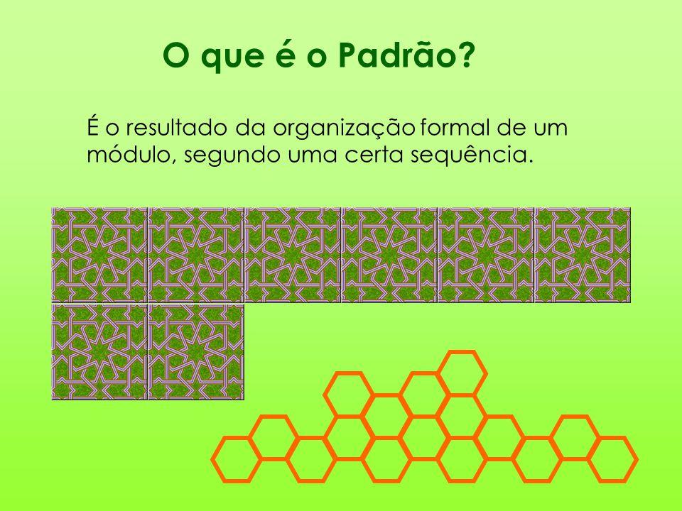 O que é o Padrão É o resultado da organização formal de um módulo, segundo uma certa sequência.