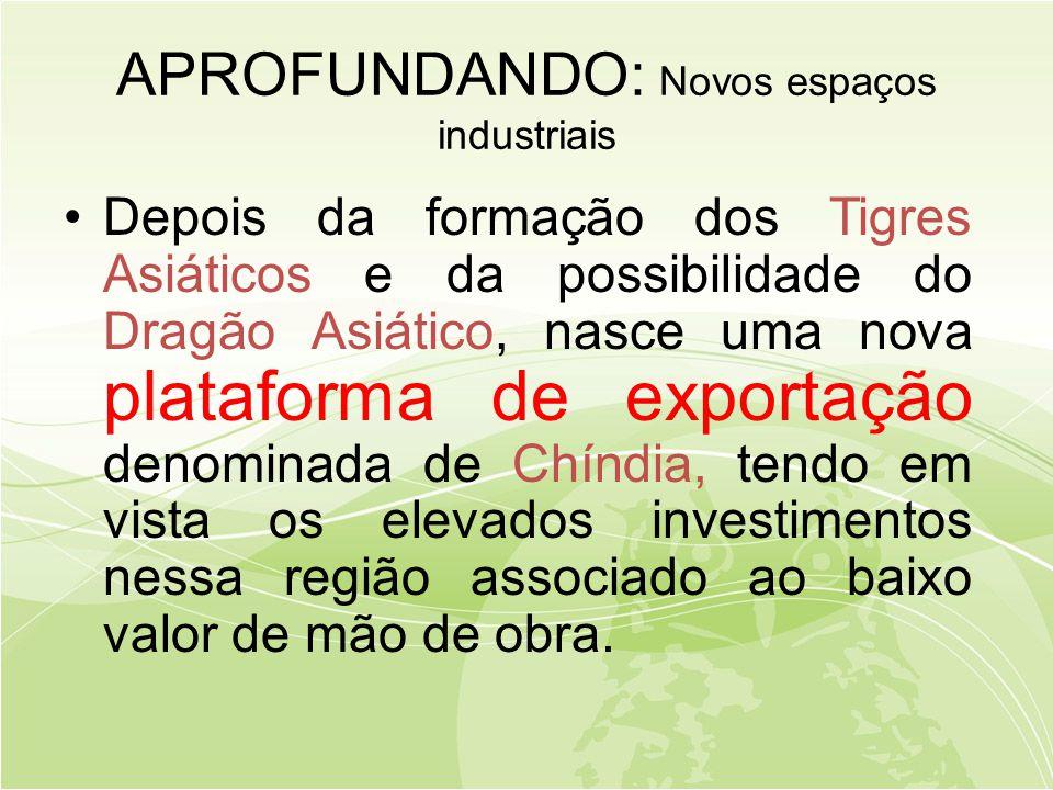 APROFUNDANDO: Novos espaços industriais