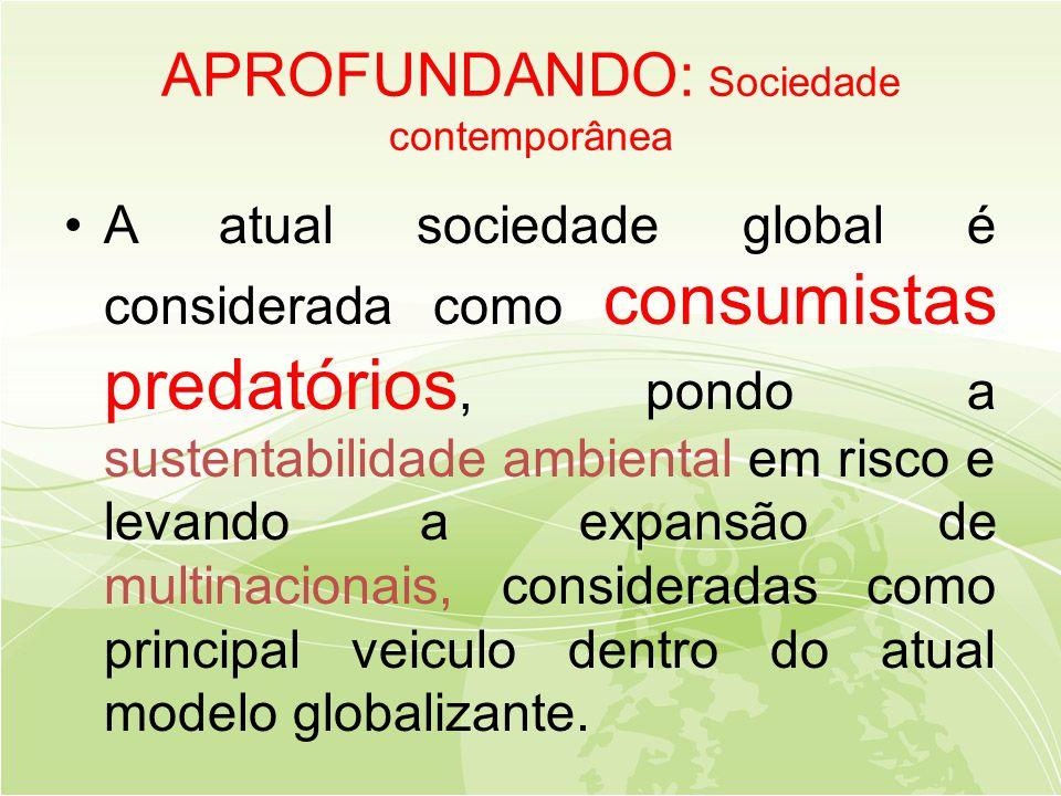 APROFUNDANDO: Sociedade contemporânea