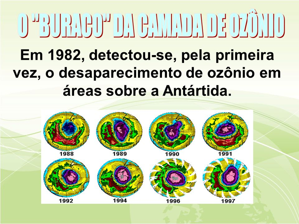 O BURACO DA CAMADA DE OZÔNIO