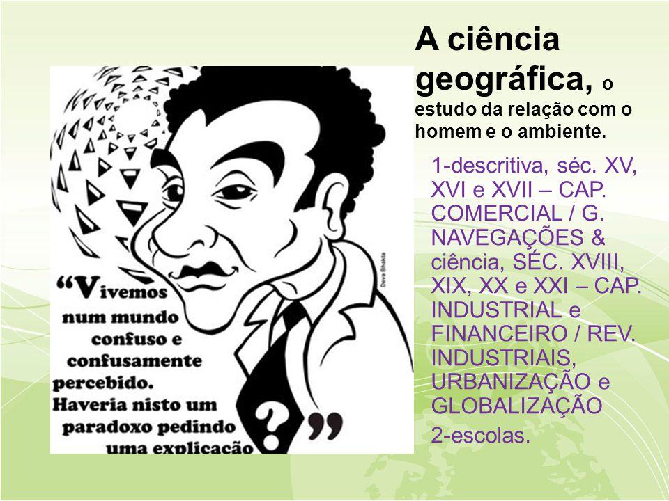 A ciência geográfica, o estudo da relação com o homem e o ambiente.