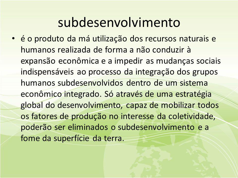 subdesenvolvimento