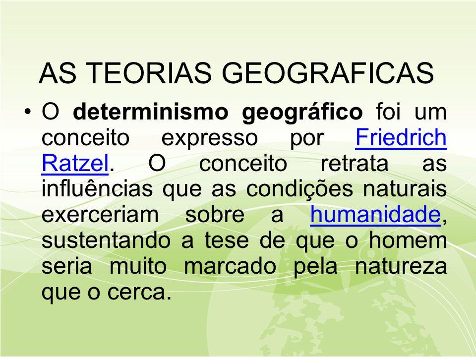 AS TEORIAS GEOGRAFICAS