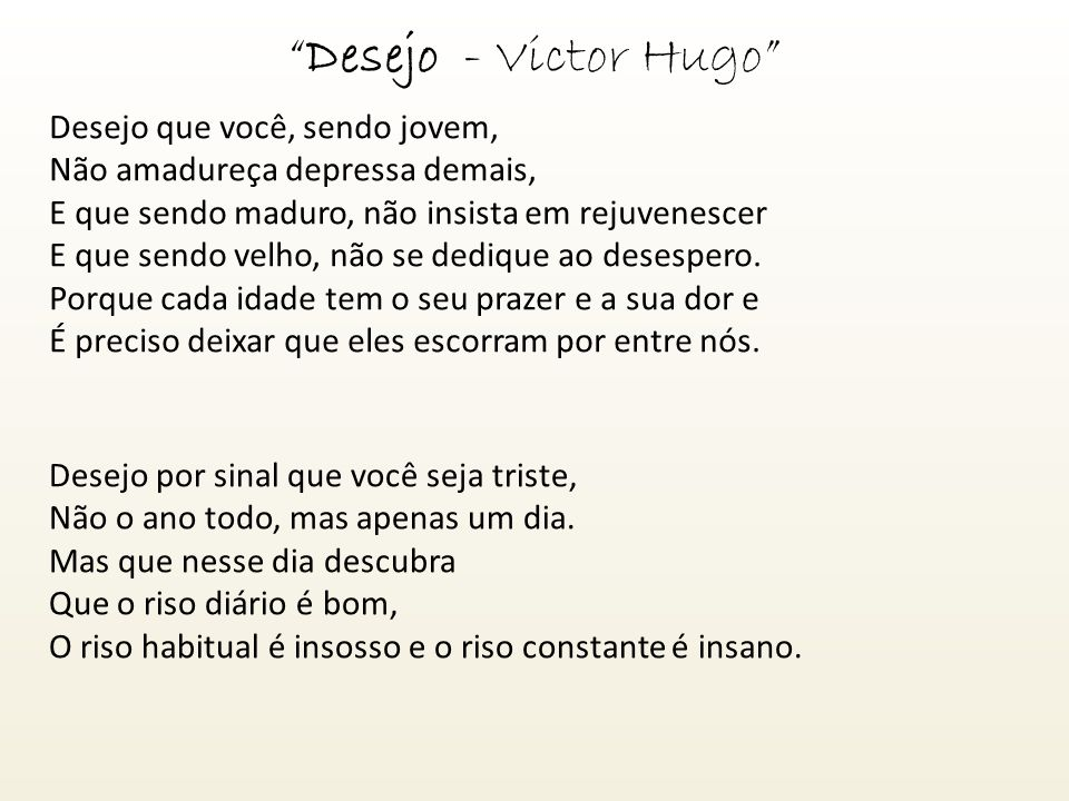 Desejo - Victor Hugo