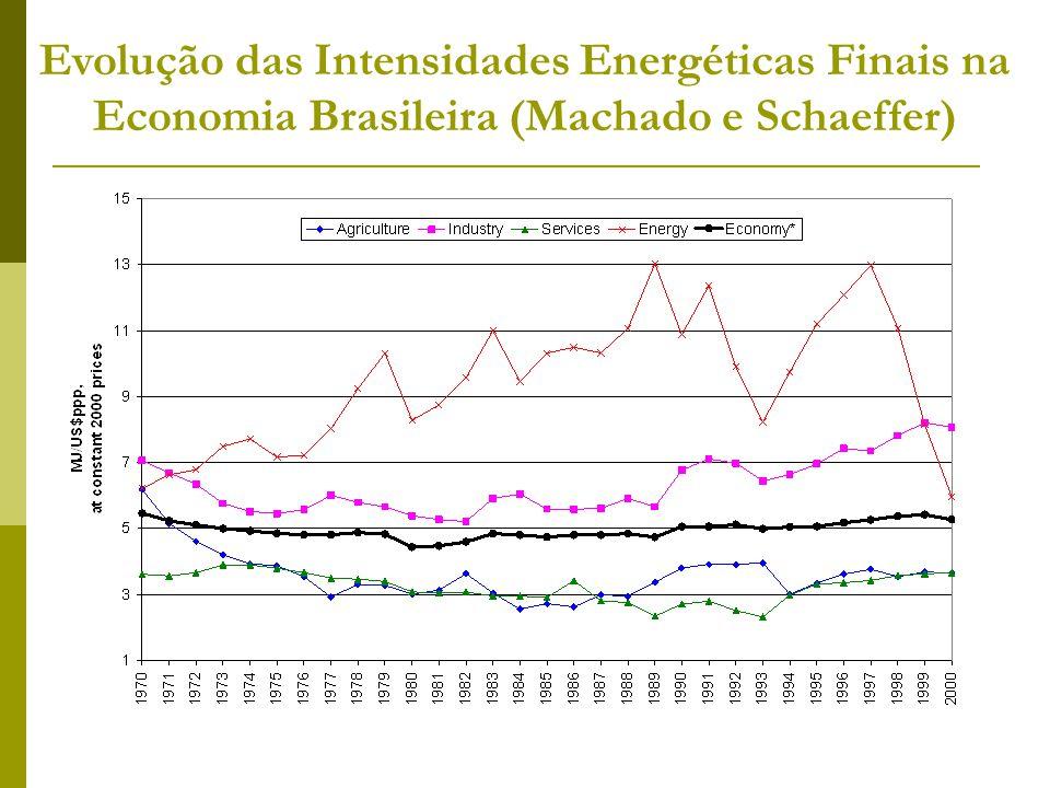 Evolução das Intensidades Energéticas Finais na Economia Brasileira (Machado e Schaeffer)