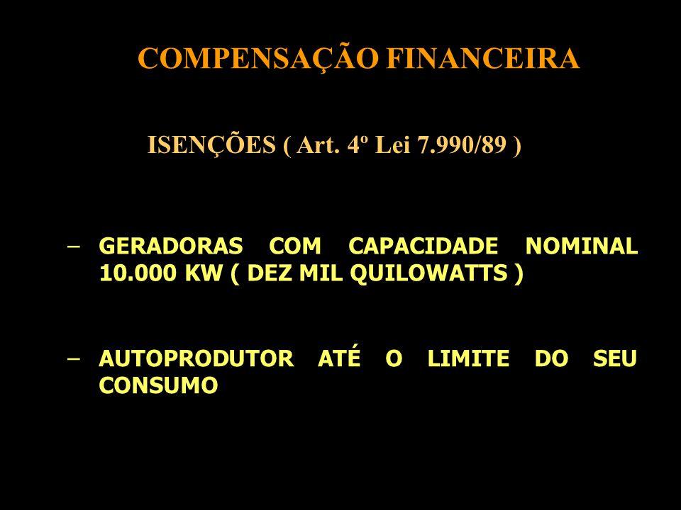 COMPENSAÇÃO FINANCEIRA