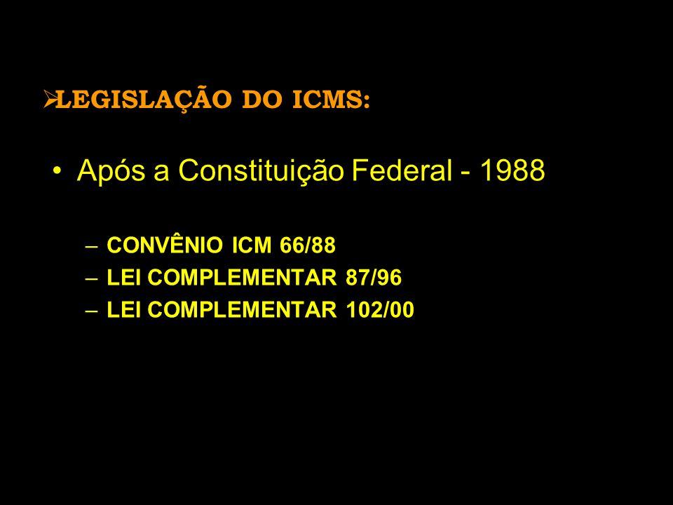Após a Constituição Federal - 1988
