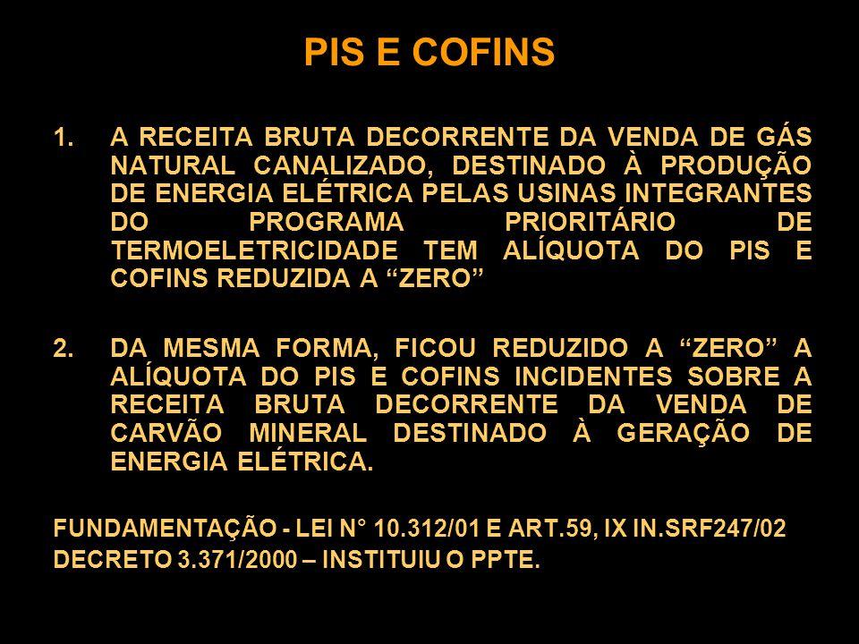 PIS E COFINS