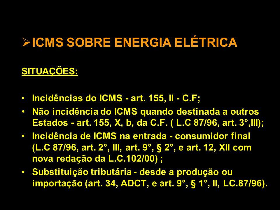 ICMS SOBRE ENERGIA ELÉTRICA