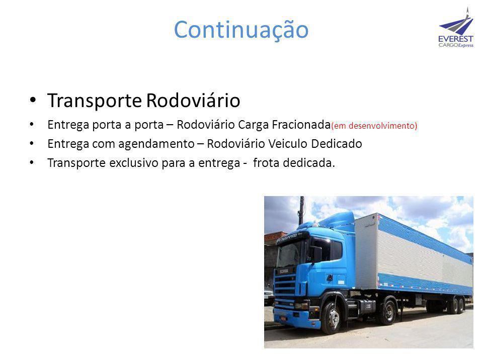 Continuação Transporte Rodoviário