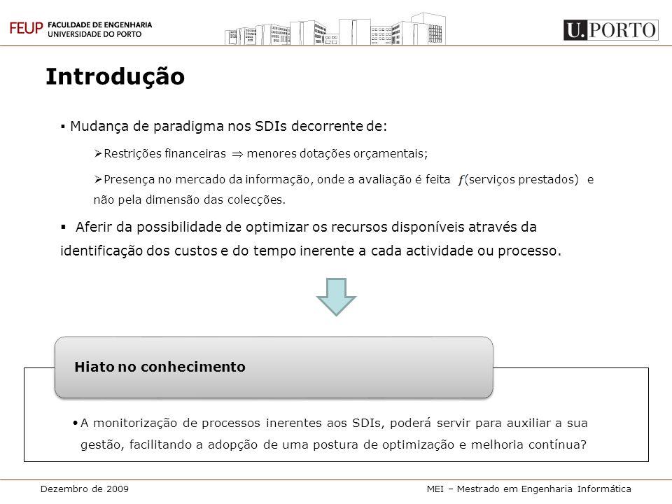 Introdução Mudança de paradigma nos SDIs decorrente de: Restrições financeiras  menores dotações orçamentais;