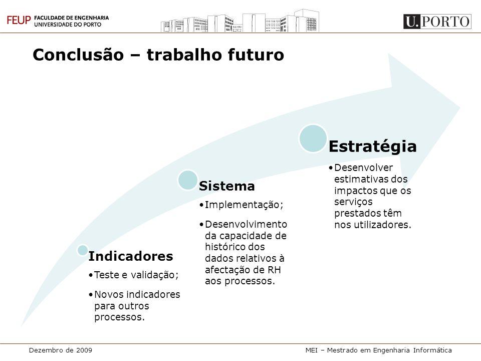 Conclusão – trabalho futuro