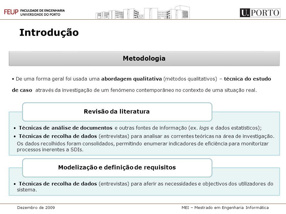 Modelização e definição de requisitos