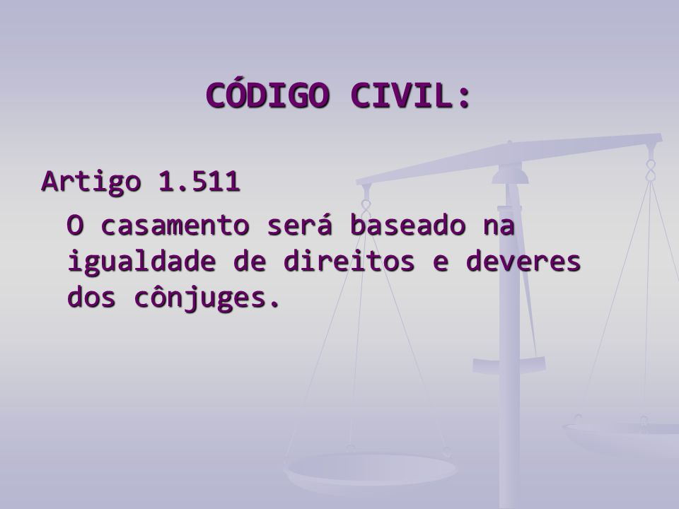 CÓDIGO CIVIL: Artigo 1.511.