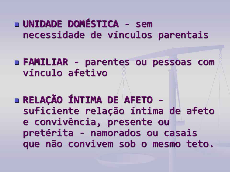 UNIDADE DOMÉSTICA - sem necessidade de vínculos parentais