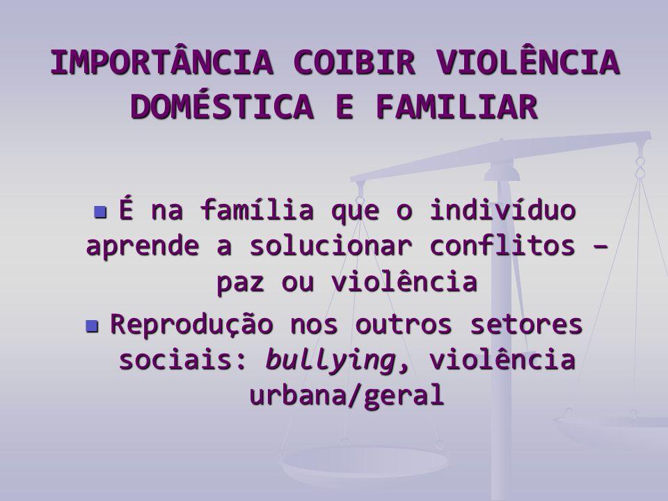 IMPORTÂNCIA COIBIR VIOLÊNCIA DOMÉSTICA E FAMILIAR