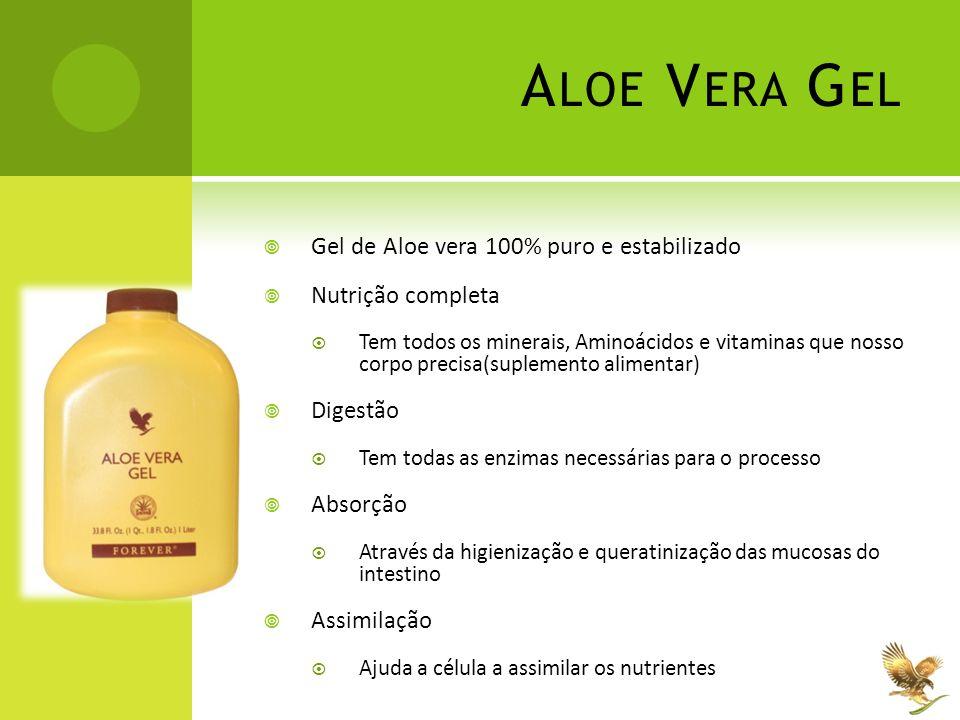 Aloe Vera Gel Gel de Aloe vera 100% puro e estabilizado