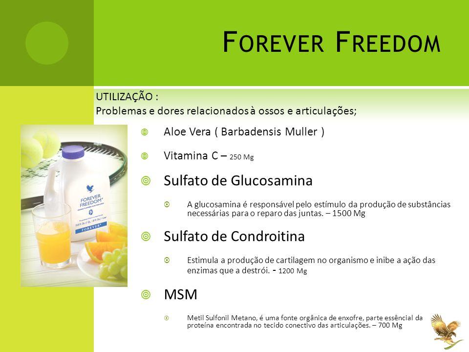 Forever Freedom Sulfato de Glucosamina Sulfato de Condroitina MSM