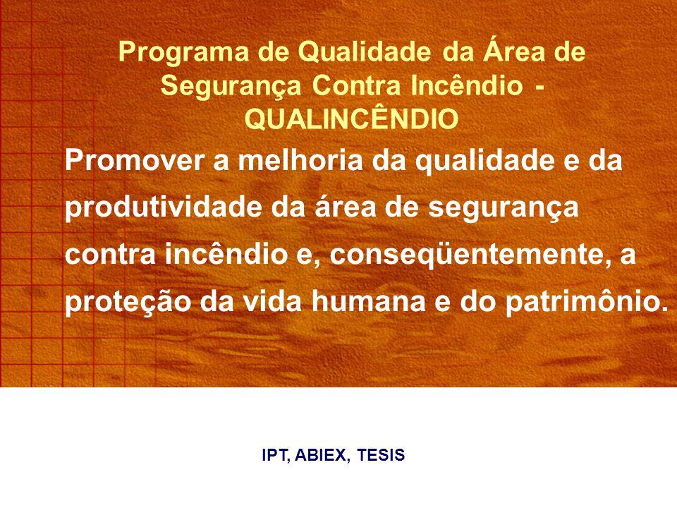 Programa de Qualidade da Área de Segurança Contra Incêndio - QUALINCÊNDIO