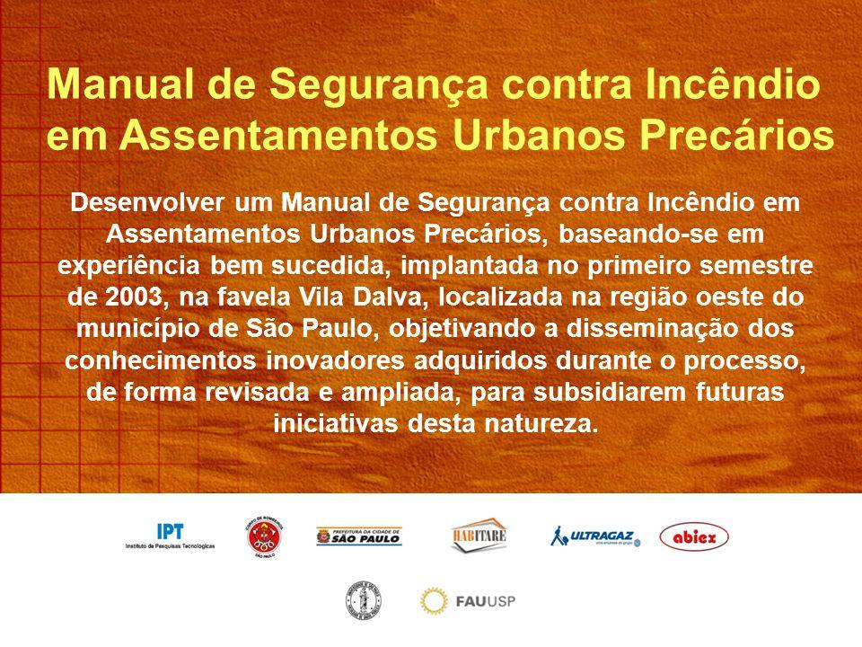 Manual de Segurança contra Incêndio em Assentamentos Urbanos Precários