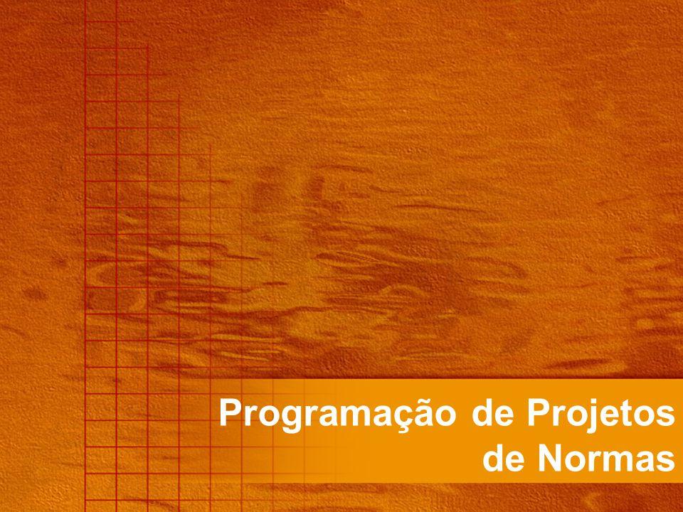 Programação de Projetos de Normas