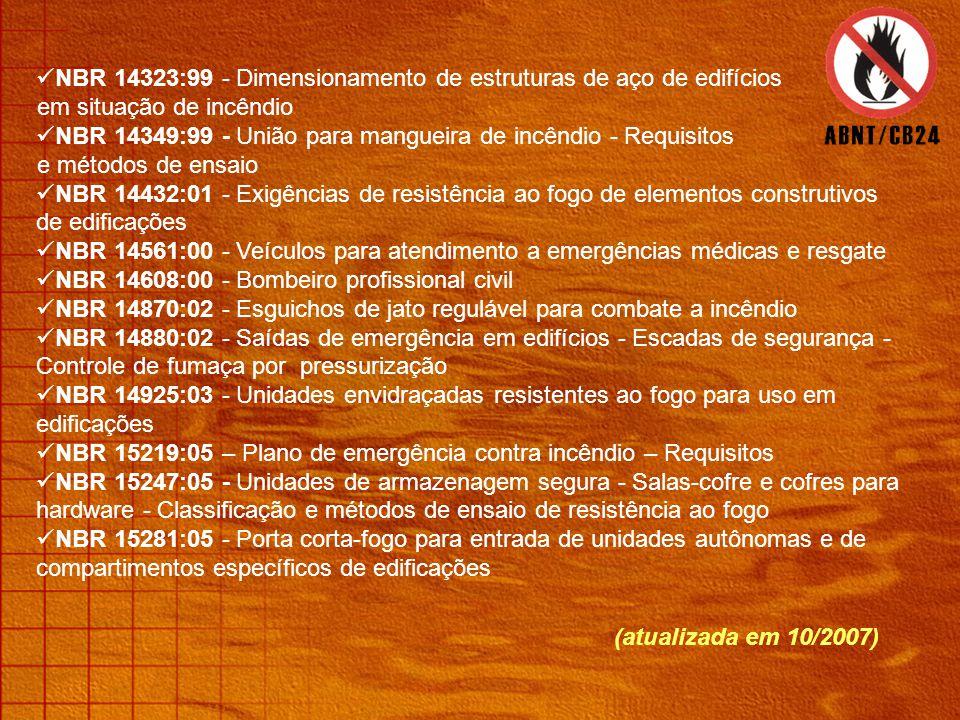 NBR 14323:99 - Dimensionamento de estruturas de aço de edifícios