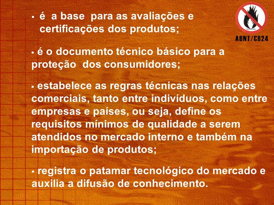 é a base para as avaliações e certificações dos produtos;