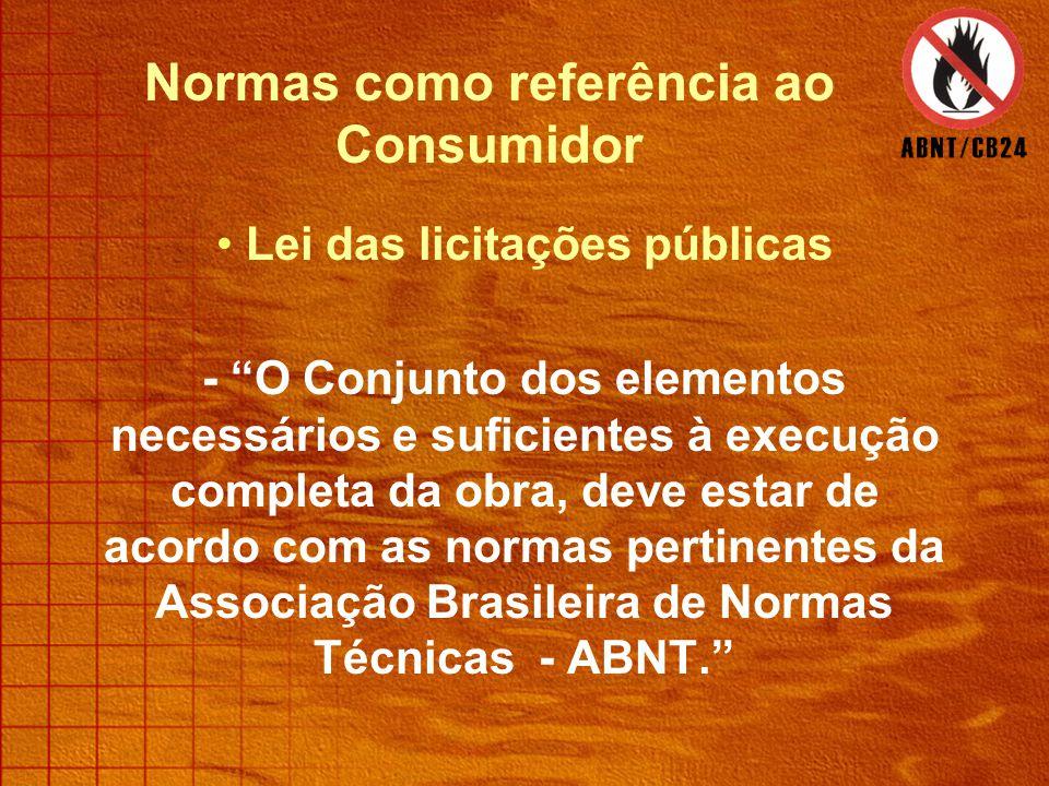 Normas como referência ao Consumidor