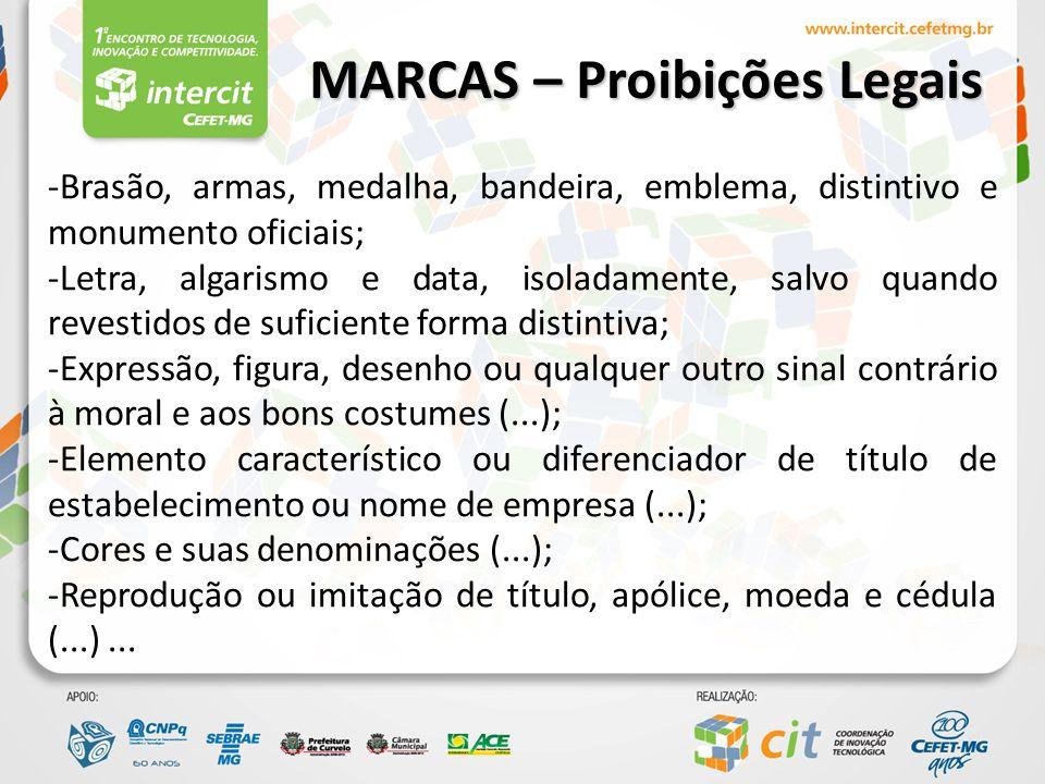 MARCAS – Proibições Legais