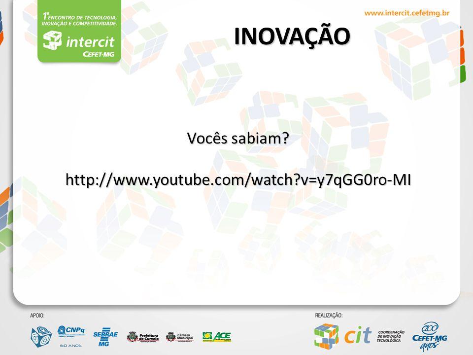 INOVAÇÃO Vocês sabiam http://www.youtube.com/watch v=y7qGG0ro-MI