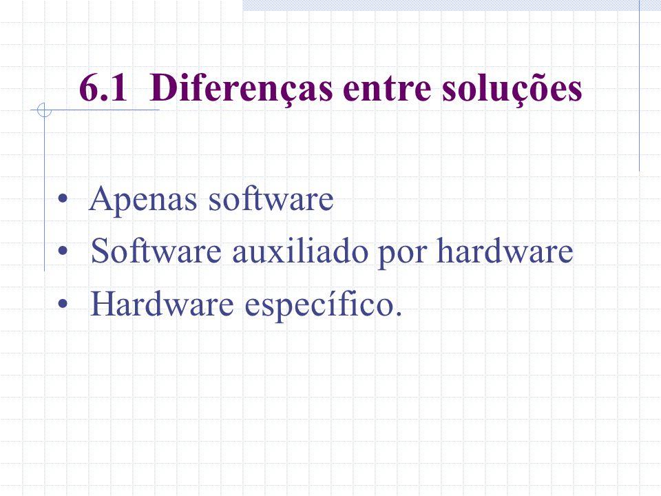 6.1 Diferenças entre soluções