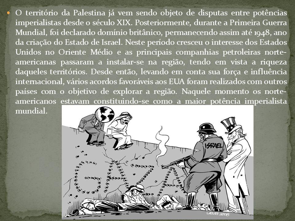 O território da Palestina já vem sendo objeto de disputas entre potências imperialistas desde o século XIX.