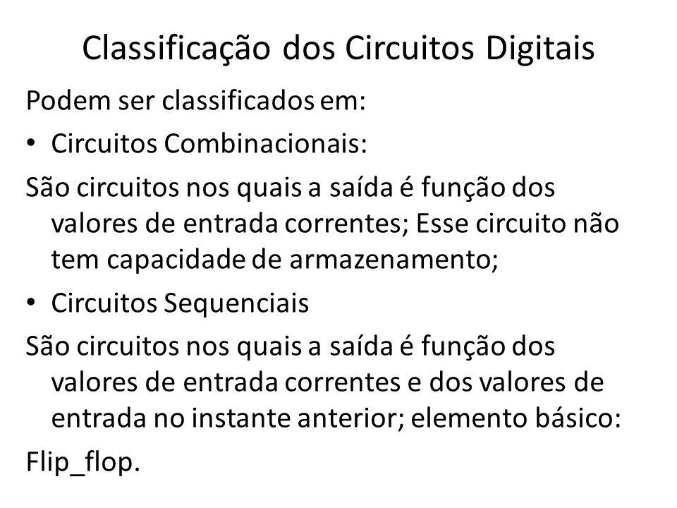 Classificação dos Circuitos Digitais