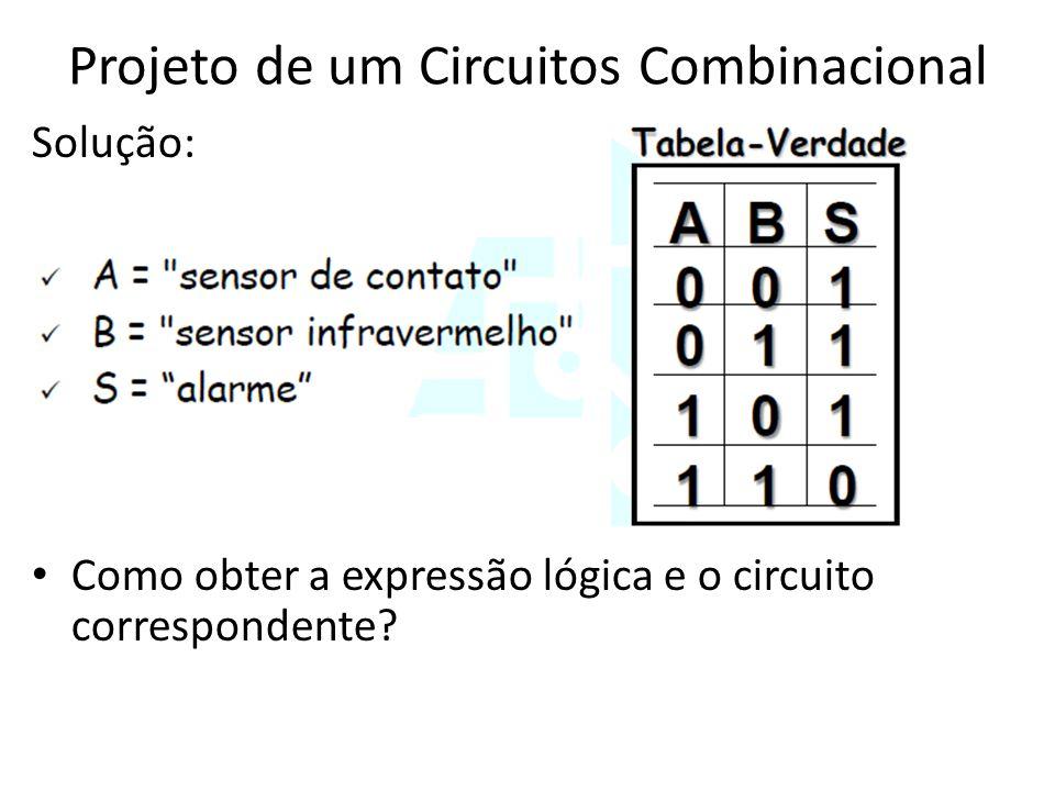 Projeto de um Circuitos Combinacional