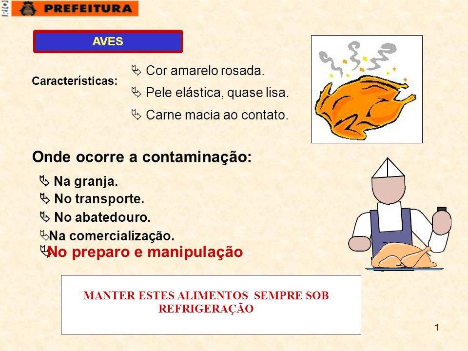 MANTER ESTES ALIMENTOS SEMPRE SOB REFRIGERAÇÃO