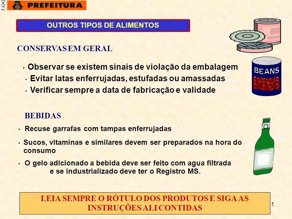 OUTROS TIPOS DE ALIMENTOS
