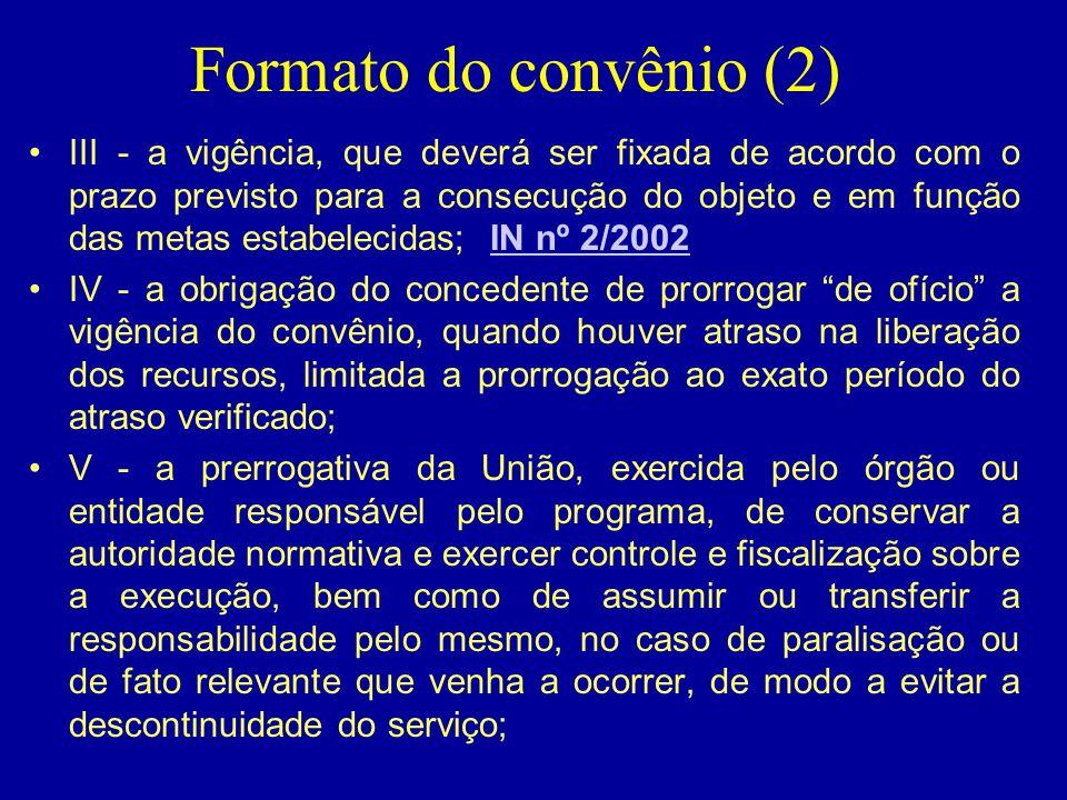 Formato do convênio (2)