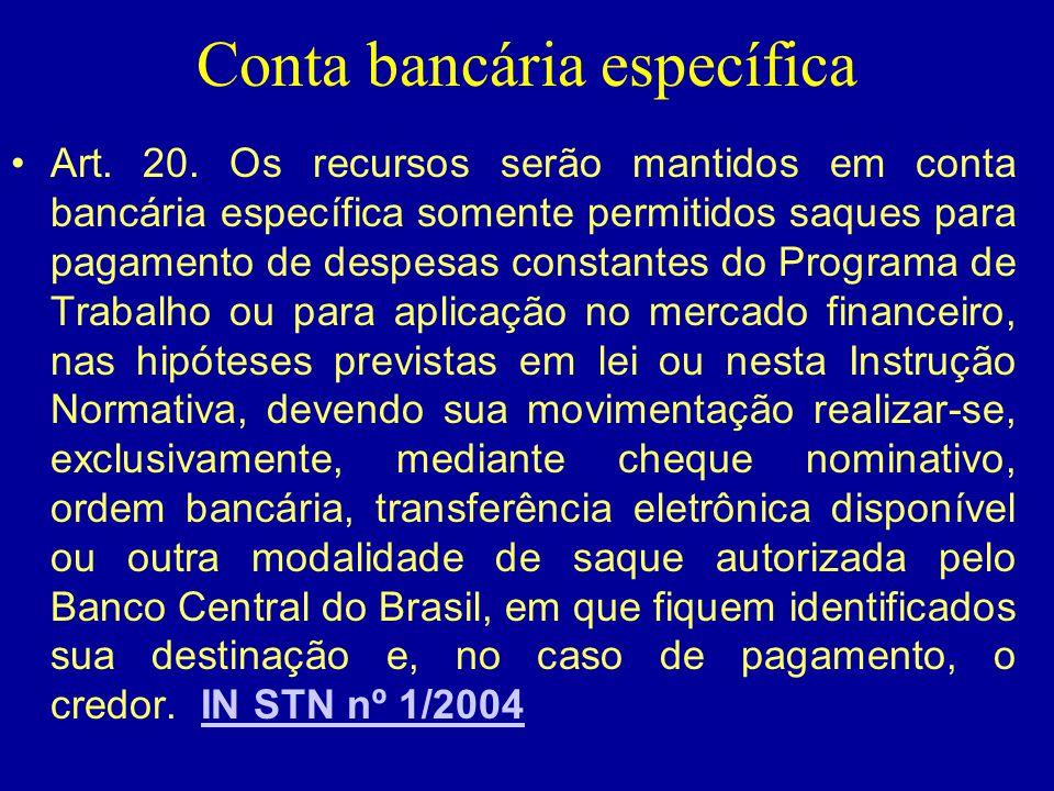 Conta bancária específica