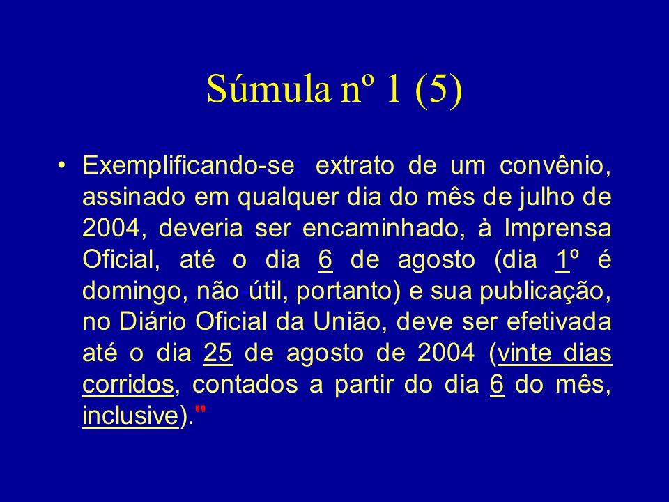 Súmula nº 1 (5)