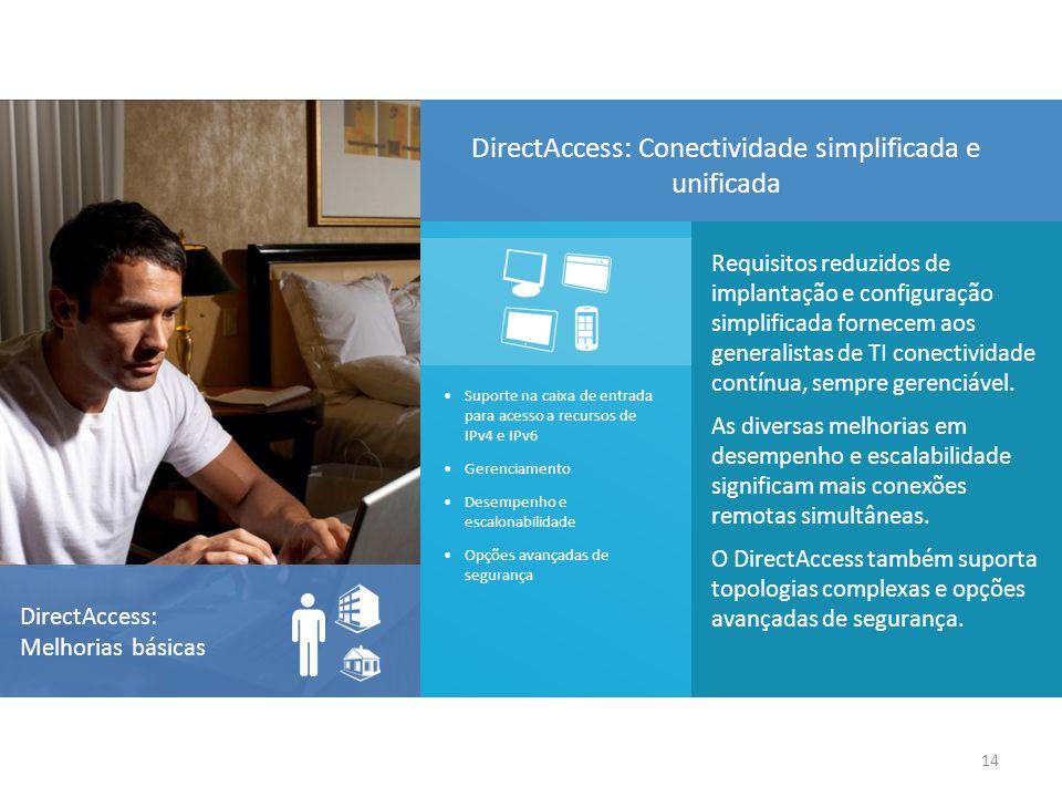 DirectAccess: Conectividade simplificada e unificada